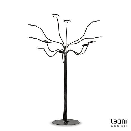 Struttura albero portacandele Evan Nero H 90 cm