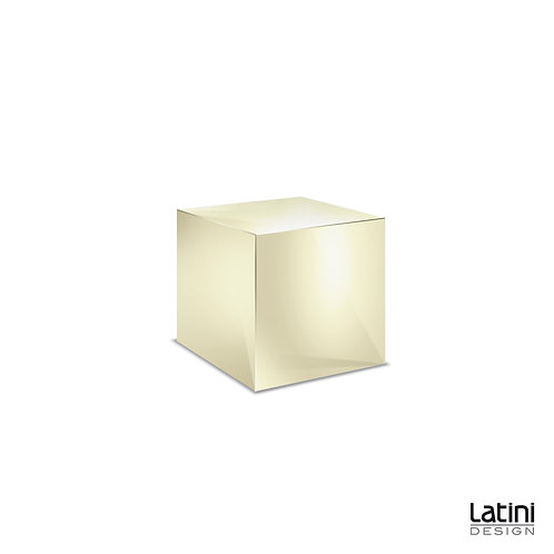 Cubo Reflect Gold 50x50 cm H 40 cm