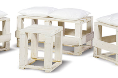 Set Ecologic Shabby Chic Bianco