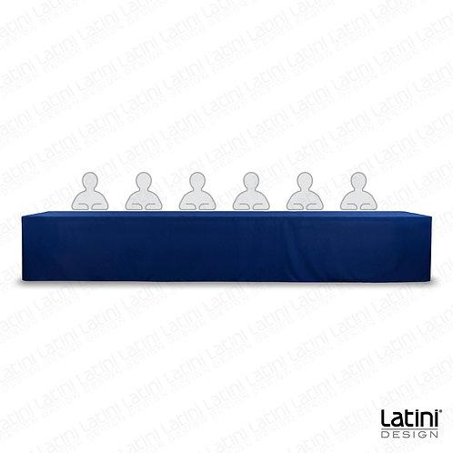 Cover per tavolo relatore blu 450 cm