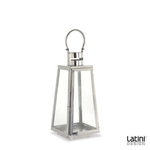 Lanterna Lydia Cromata H 45 cm