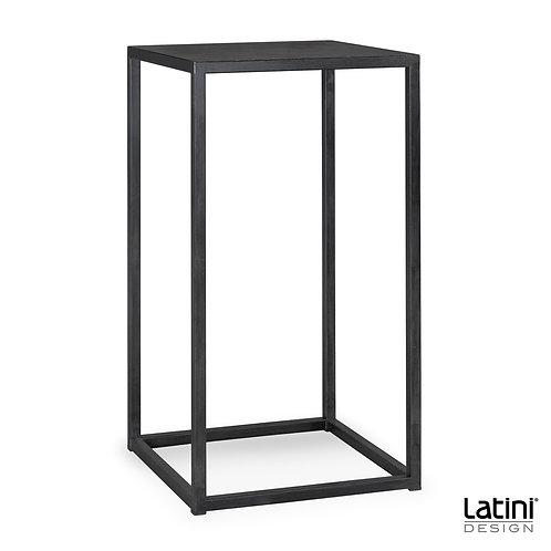 Tavolo alto quadrato Metallic Nero