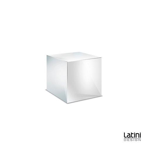 Cubo Reflect Silver 50x50 cm H 40 cm