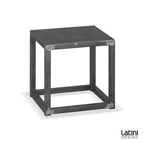 Tavolo lounge Metallic Silver c/cuscino 40x40 cm H 40 cm