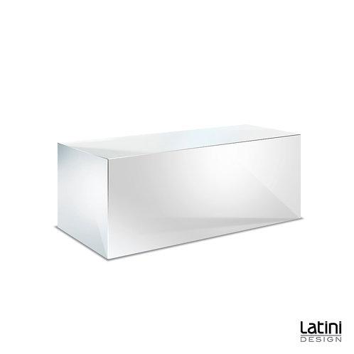 Panca Reflect Silver 100x40 cm H 40 cm