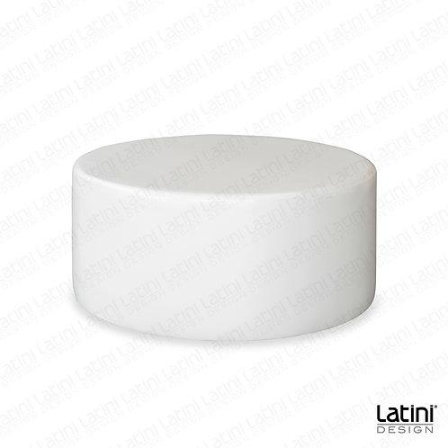 Pouf Victoria Bianco Rotondo ø 100 cm