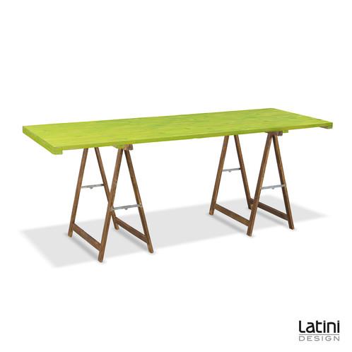 Tavolo Rettangolare con Cavalletti in legno