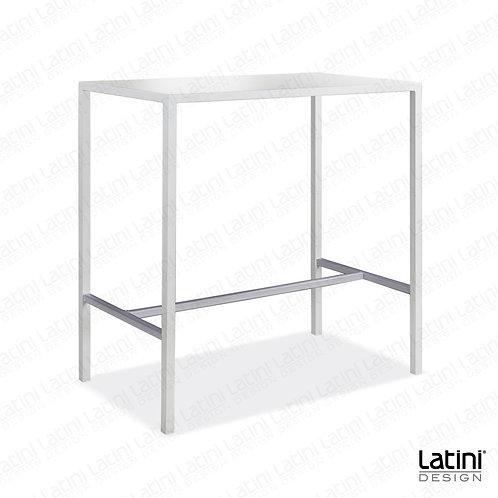 Tavolo alto rettangolare Metallic Bianco