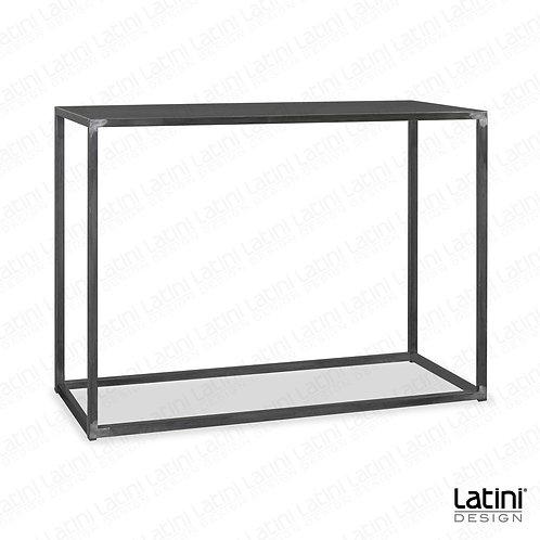 Tavolo alto rettangolare Metallic Silver