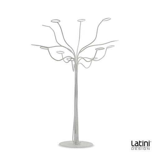 Struttura albero portacandele Evan Bianco H 90 cm