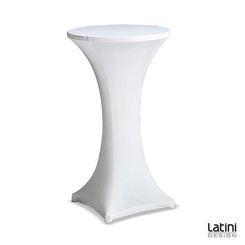 Tavolo Alto Stretchy Tondo ø 60 cm H 100 cm Bianco