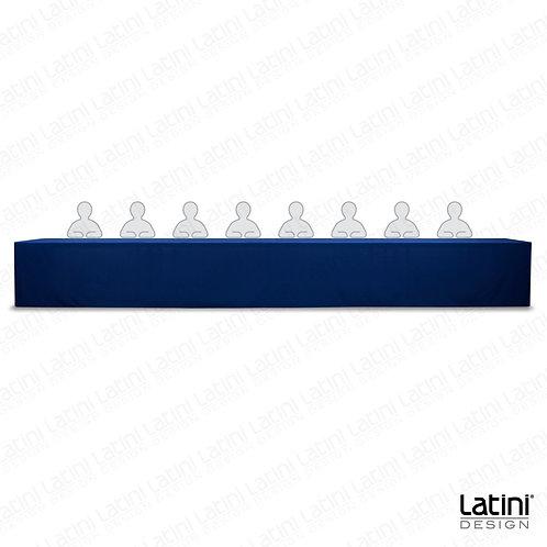 Cover per tavolo relatore blu 600 cm