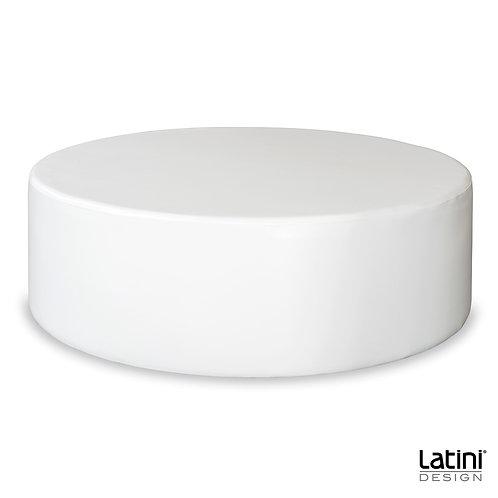 Pouf Victoria Bianco Rotondo ø 140 cm