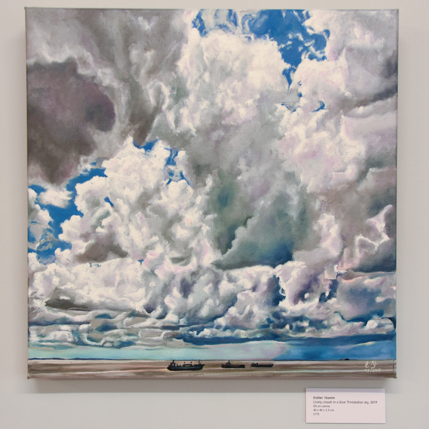 Lively clouds in a Trinidadian sky