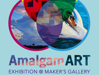 Poster for upcoming exhibition: AmalgamART @ Maker's Gallery