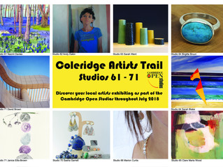 Flyer design for Coleridge Open Studios