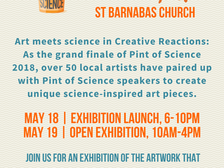 Creative Reactions : Pint of Science 2018