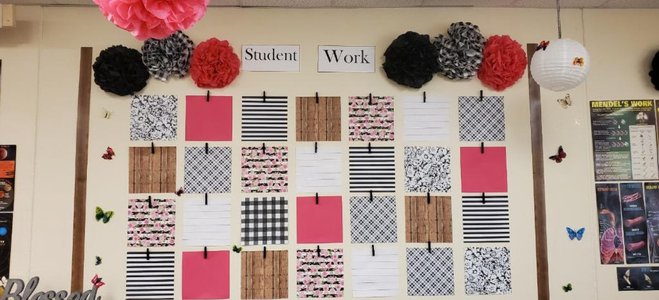 Student work Wall