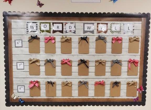 Vocabulary Wall