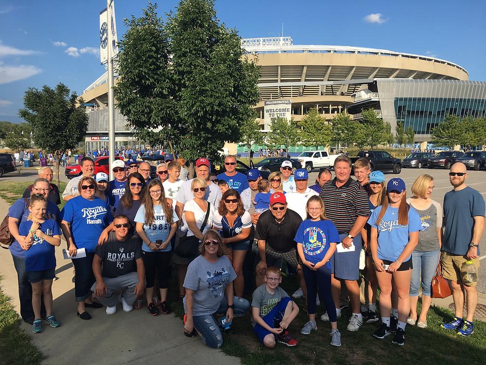 Goodell Stratton staff at Kauffman Stadium