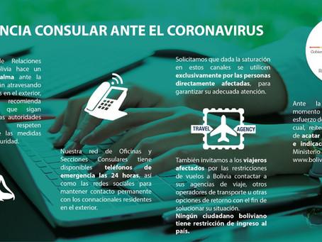 Asistencia consular ante el Coronavirus