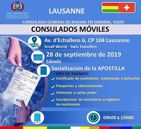 CM Lausanne 28 sept 2019