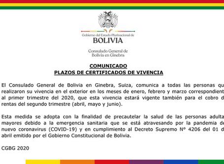 Ampliación plazos de certificados de vivencia