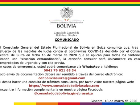 Atención Consular será unicamente con cita previa