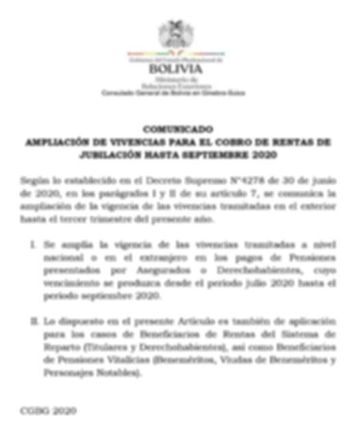 Vivencias para rentistas bolivianos en el exterior