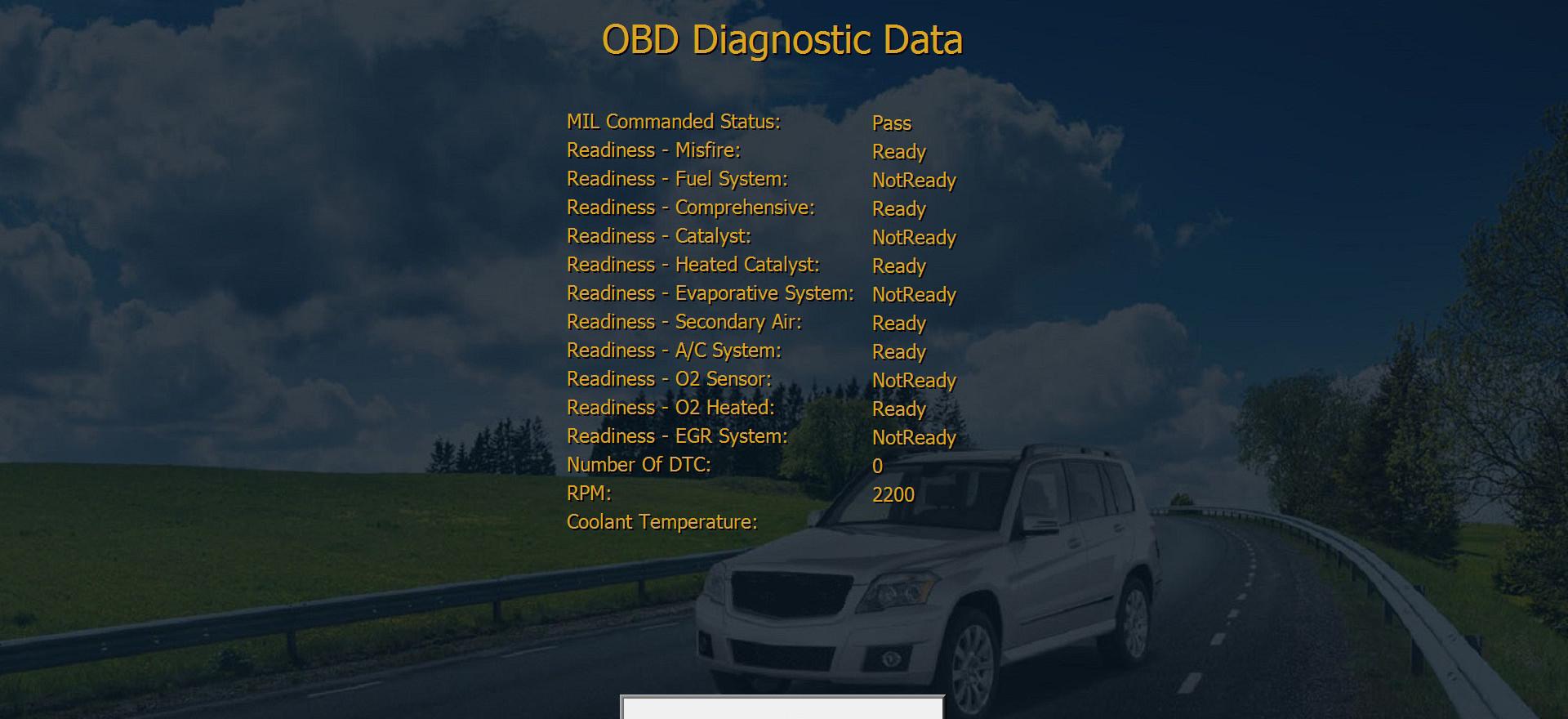 Exclusive printable OBD Diagnostics