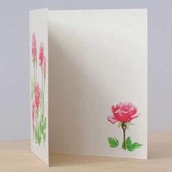Rose garden card, inside detail