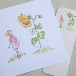 Daisy sunflower card