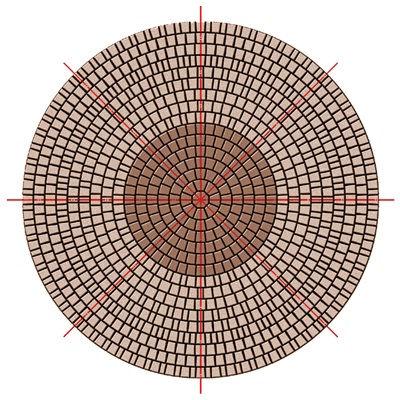 пример круговой укладки уникамнем / Посадский камень /