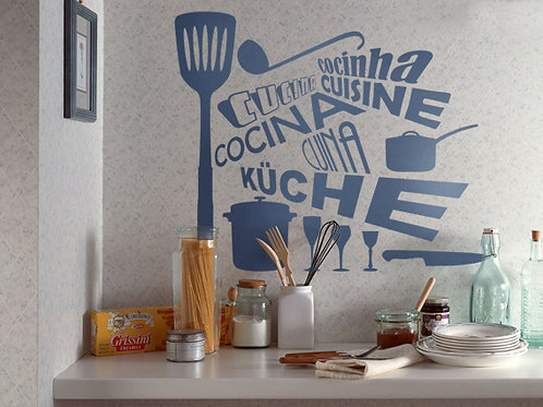 Vinilo decorativo para cocina Cocina Idiomas