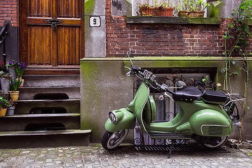 Fotomural moto antigua