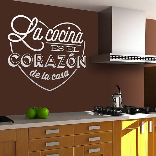Vinilo para cocina La cocina es el corazón de la casa
