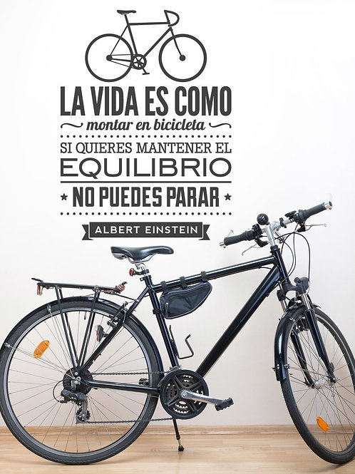 """""""La vida es como montar en bicicleta"""""""