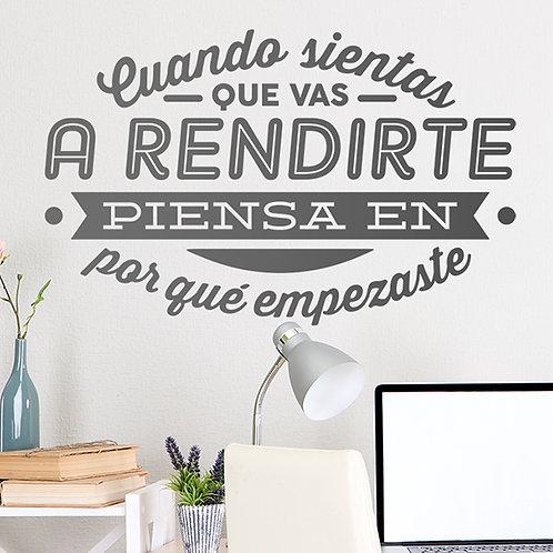 Vinilo Cuando sientas que vas a rendirte...