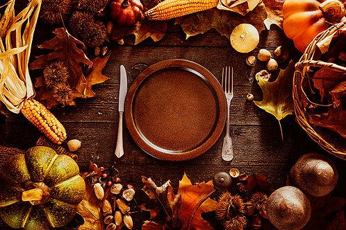 Fotomural alimentos en otoño.