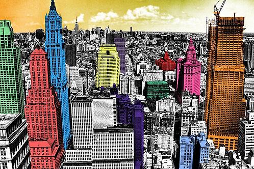 Fotomural Edificios de colores