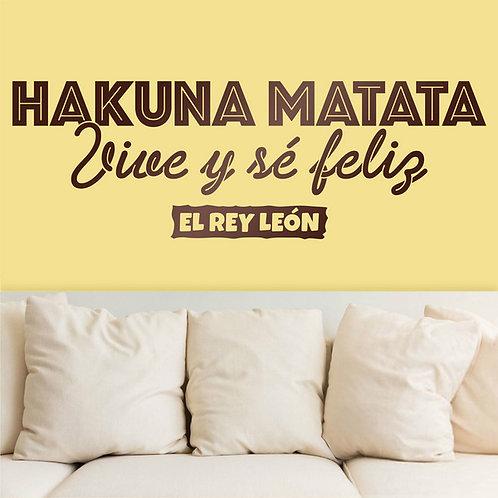 Vinilo decorativo infantil Hakuna Matata, en español