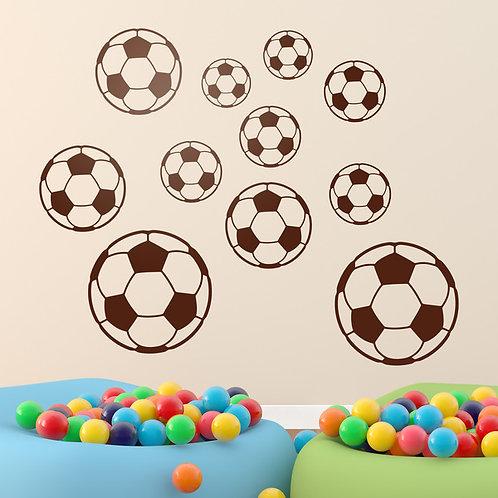 Vinilo decorativo infantil Kit balones de fútbol
