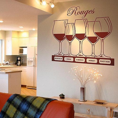 Vinilo decorativo Copas de vino tinto
