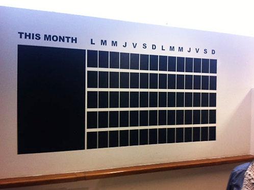 Vinilo pizarra calendario