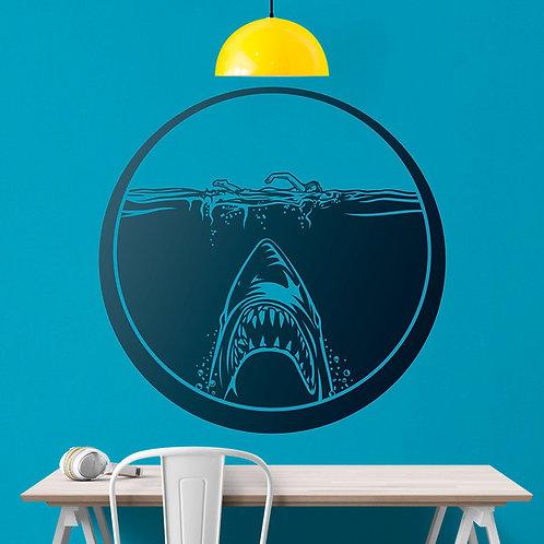 Vinilo decorativo Película Tiburón