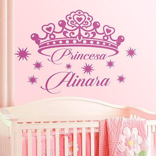 Vinilo decorativo infantil Princesa Personalizada