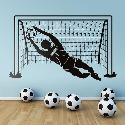 Vinilo infantil Portero de fútbol personalizado