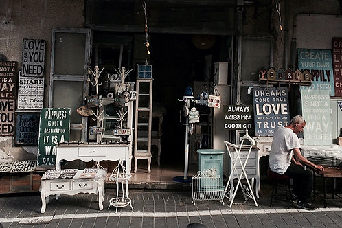 Fotomural tienda vintage