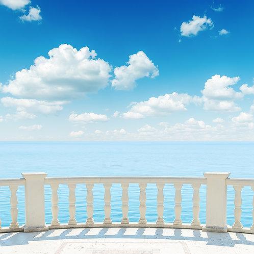 Fotomural balcón hacia la playa