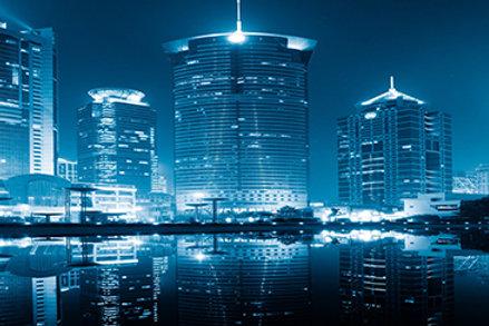 Fotomural ciudad de noche
